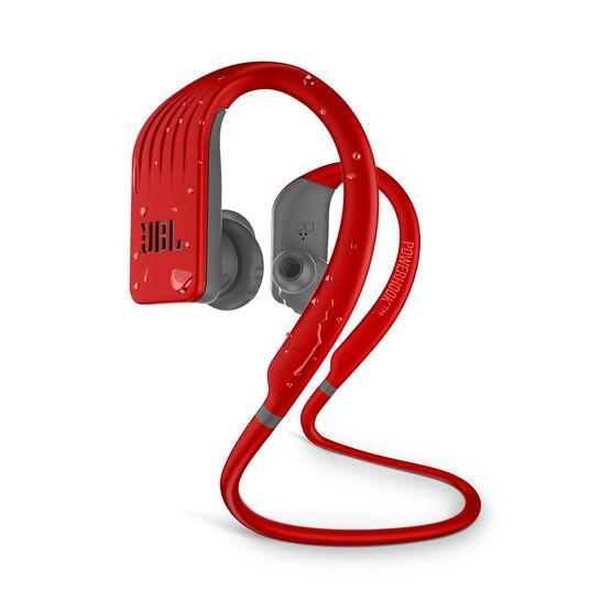 JBL Endurance JUMP - Red - Waterproof Wireless Sport In-Ear Headphones - Hero