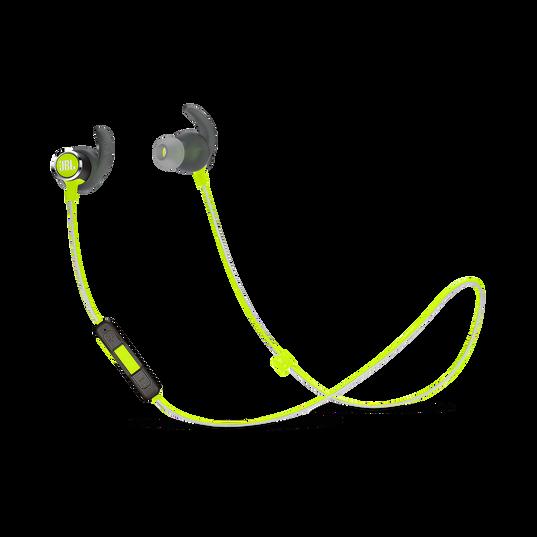 JBL REFLECT MINI 2 - Green - Lightweight Wireless Sport Headphones - Hero