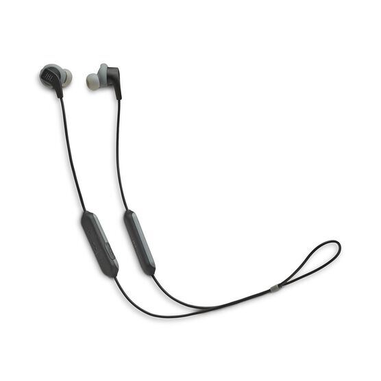 JBL Endurance RUNBT - Black - Sweatproof Wireless In-Ear Sport Headphones - Hero