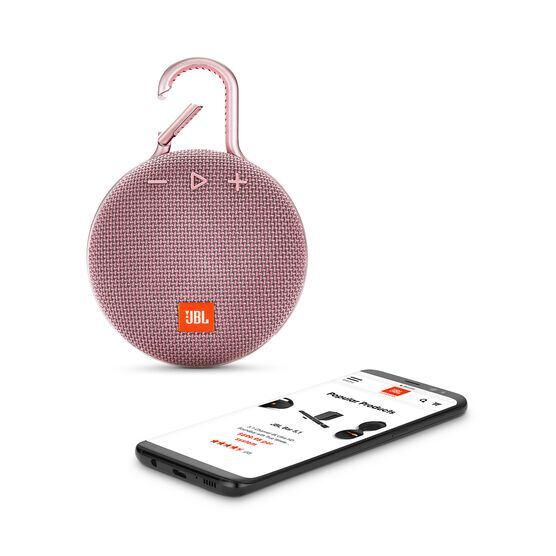 JBL CLIP 3 - Dusty Pink - Portable Bluetooth® speaker - Detailshot 1