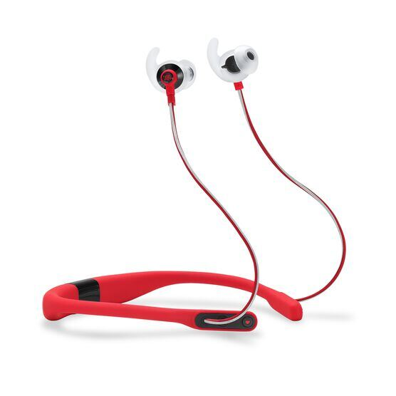 JBL Reflect Fit - Red - Heart Rate Wireless Headphones - Hero