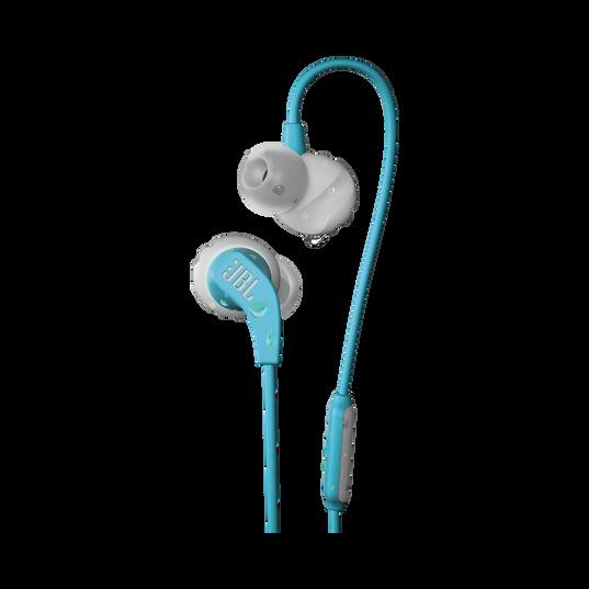 JBL Endurance RUN - Teal - Sweatproof Wired Sport In-Ear Headphones - Hero