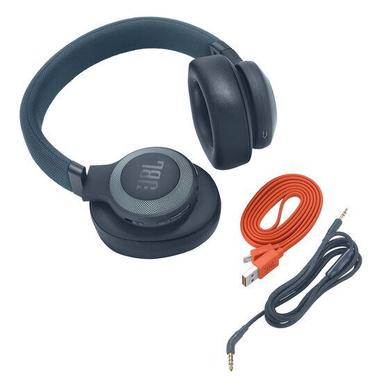 JBL E65BTNC - Blue - Wireless over-ear noise-cancelling headphones - Detailshot 3