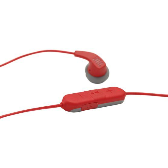 JBL Endurance RUNBT - Red - Sweatproof Wireless In-Ear Sport Headphones - Detailshot 5