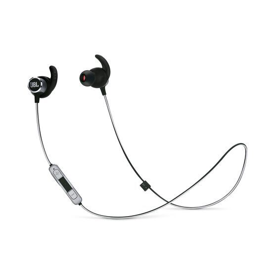 JBL REFLECT MINI 2 - Black - Lightweight Wireless Sport Headphones - Hero