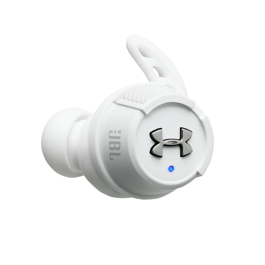 Under Armour® True Wireless Flash – Engineered by JBL® - White - Truely wireless sport headphones for your every run, with JBL technology and sound. - Detailshot 1