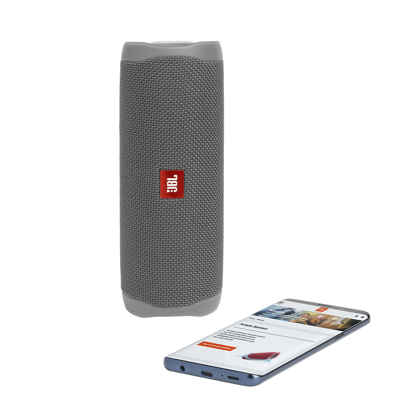 JBL FLIP 5 - Grey - Portable Waterproof Speaker - Detailshot 2