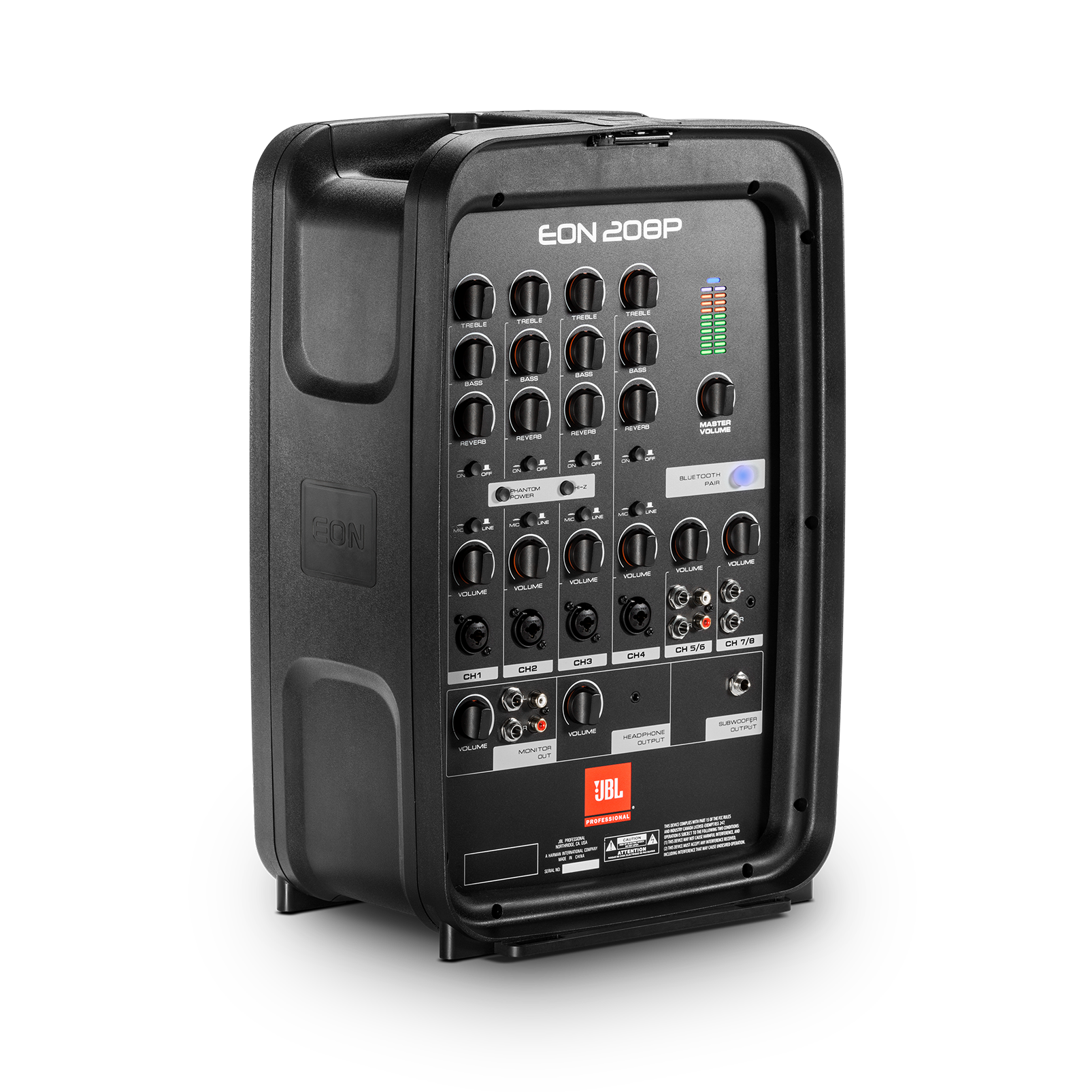 """JBL EON208P - Black - Portable 8"""" 2-Way PA with Powered 8-Channel Mixer and Bluetooth® - Detailshot 3"""
