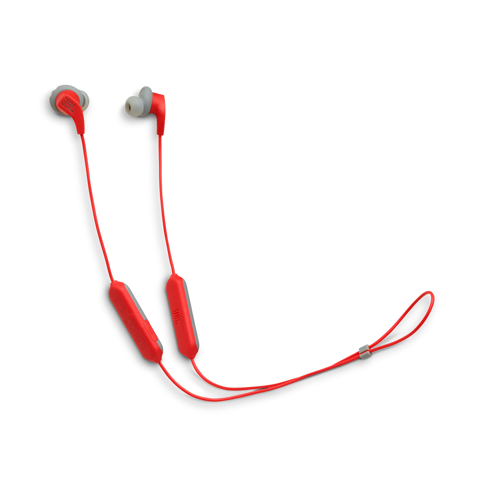 JBL Endurance RUNBT - Red - Sweatproof Wireless In-Ear Sport Headphones - Hero