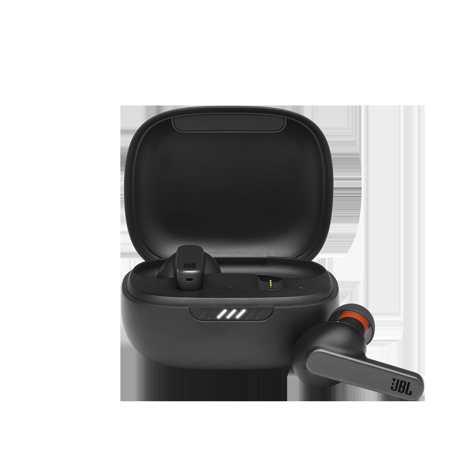 JBL Live Pro+ TWS - Black - True wireless Noise Cancelling earbuds - Hero