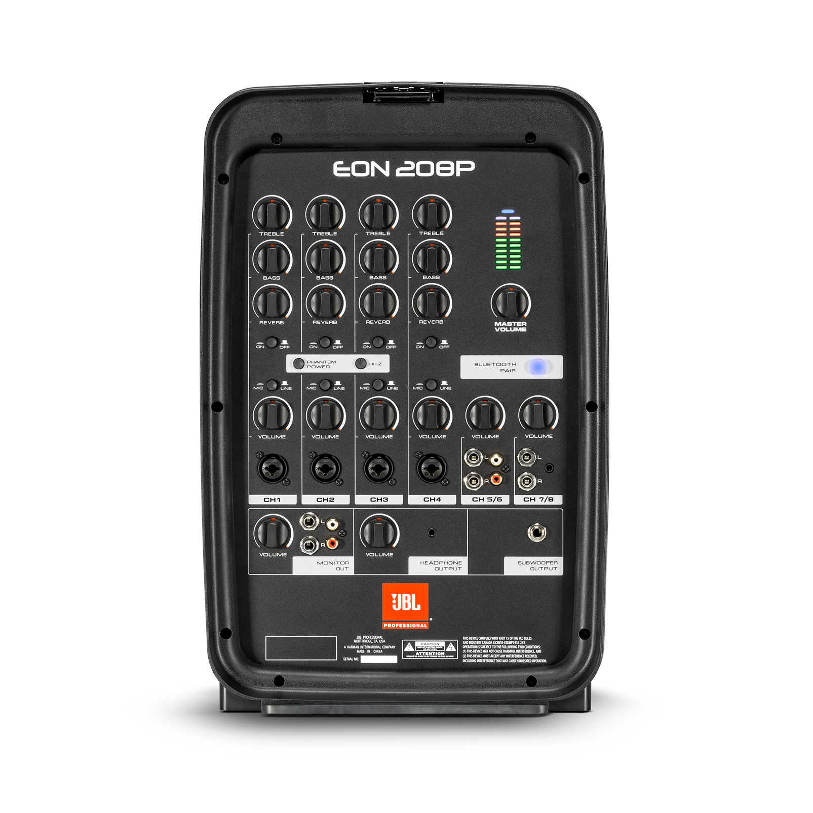 """JBL EON208P - Black - Portable 8"""" 2-Way PA with Powered 8-Channel Mixer and Bluetooth® - Detailshot 1"""