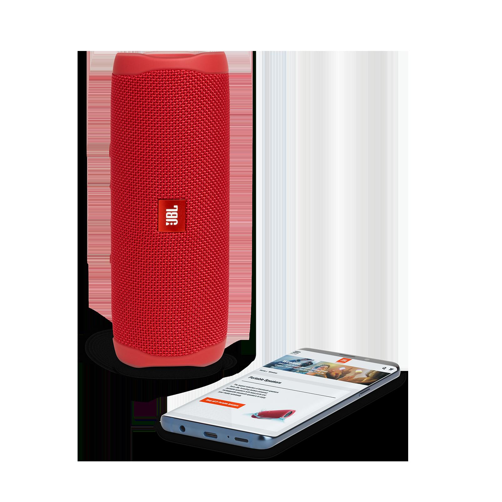 JBL FLIP 5 - Red - Portable Waterproof Speaker - Detailshot 2