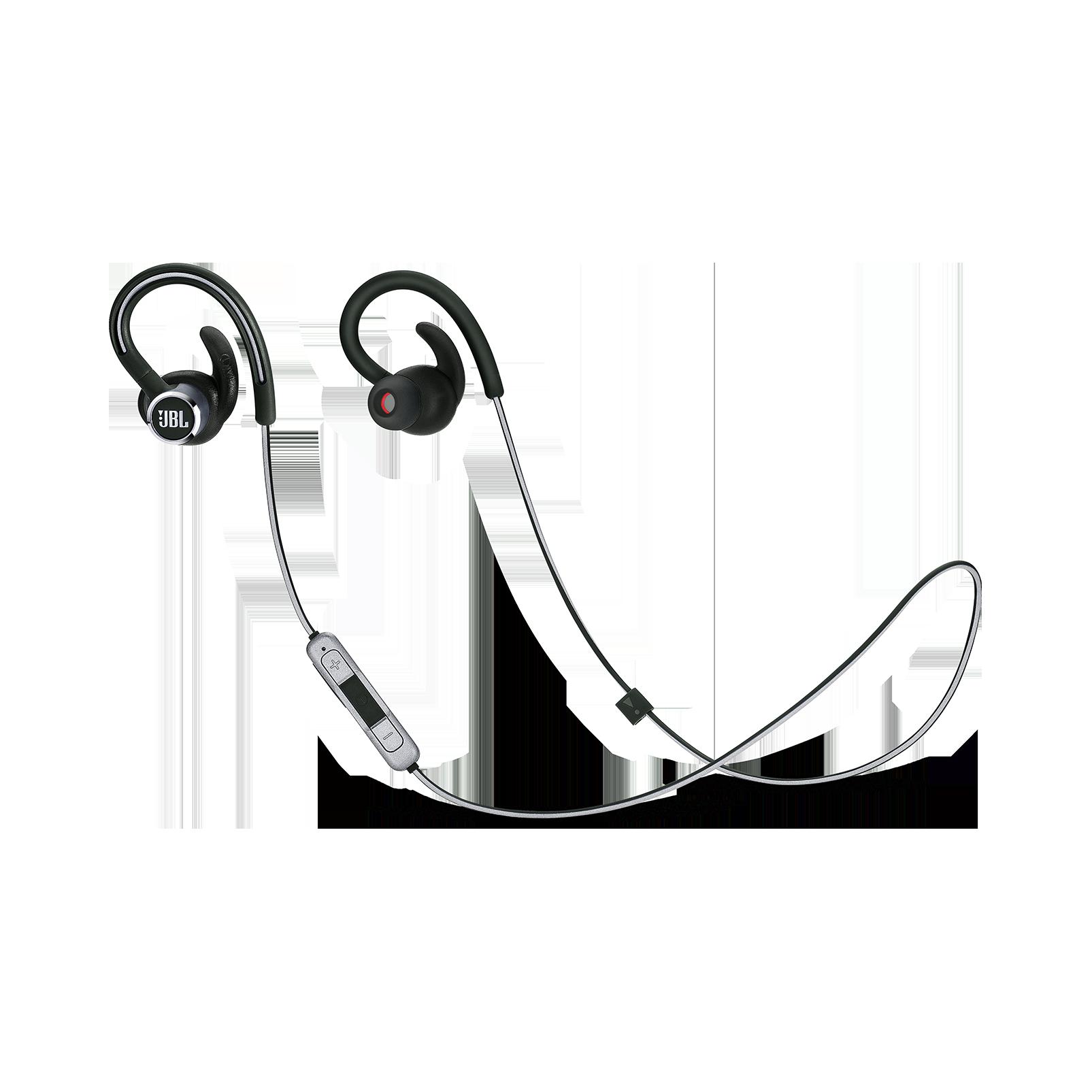 JBL Reflect Contour 2 - Black - Secure fit Wireless Sport Headphones - Hero