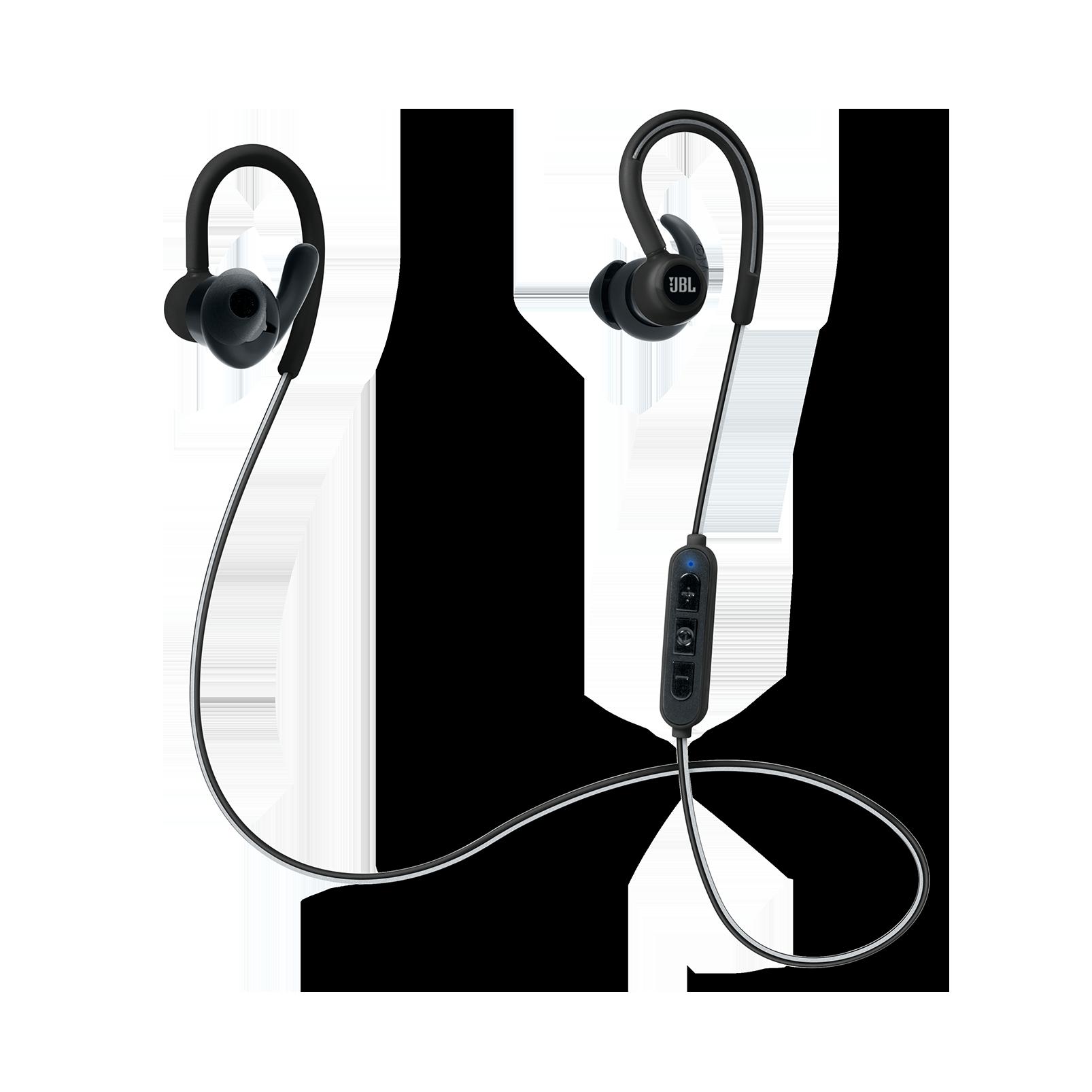 Reflect Contour - Black - Secure fit wireless sport headphones - Hero