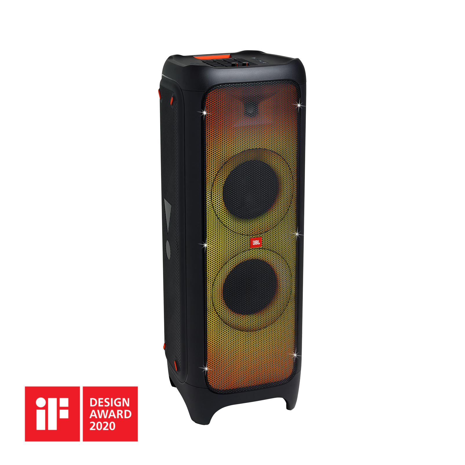 JBL PartyBox 1000 - Black - Powerful Bluetooth party speaker with full panel light effects - Hero
